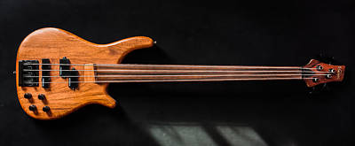 Photograph - Vintage Bass Guitar  by Semmick Photo