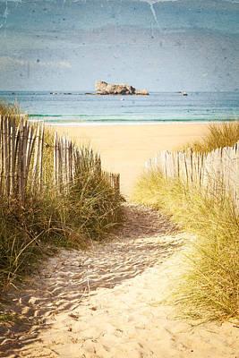 Photograph - Vintage Beach Postcard by Joshua McDonough