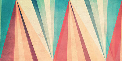 Pattern Digital Art - Vintage Beach by Vess DSign