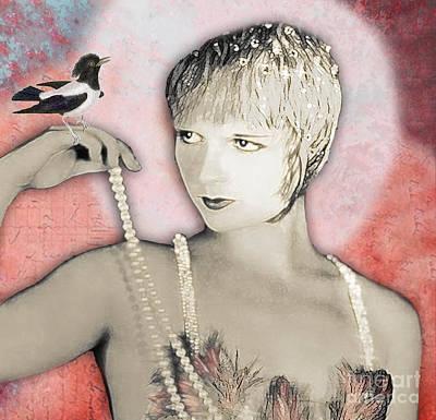Gypsy Digital Art - Vintage Beauty Louise Brooks by Carolyn Slattery