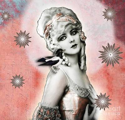 Vintage Beauty Marion Benda Art Print