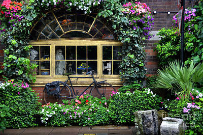 Decor Photograph - Vintage Bicycle At The Window by RicardMN Photography