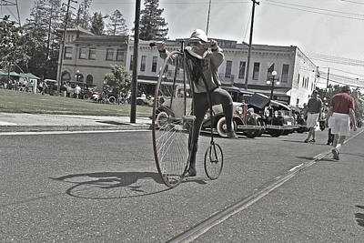 Photograph - Vintage Bicycle Big Wheel by SC Heffner