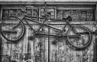 Photograph - Vintage Bicycle Built For Two In Black And White by Kathleen K Parker