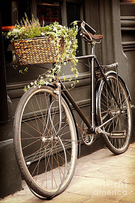 Pedals Photograph - Vintage Bicycle by Jane Rix