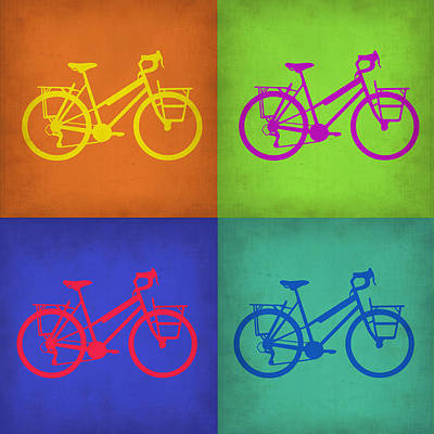 Bicycling Painting - Vintage Bicycle Pop Art 1 by Naxart Studio