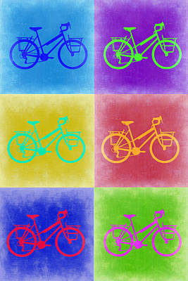 Vintage Bicycle Pop Art 2 Print by Naxart Studio