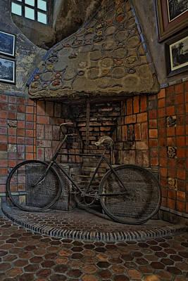 Vintage Bicycle Art Print by Susan Candelario