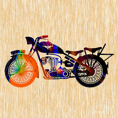 Vintage Mixed Media - Vintage Bike by Marvin Blaine