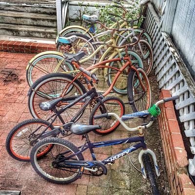 Photograph - Vintage Bikes by Patricia Januszkiewicz