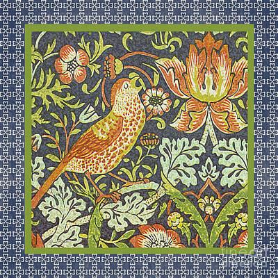 Vintage Bird-jp2321 Original by Jean Plout