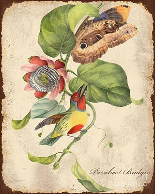 Vintage Bird Study-b Original
