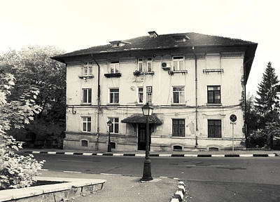 Photograph - Vintage Black And White House by Vlad Baciu