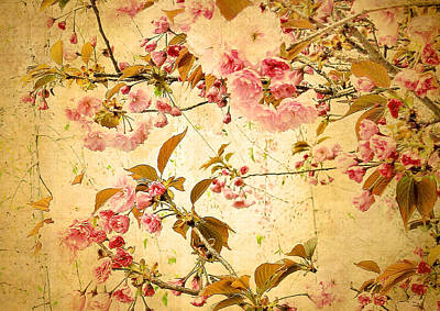 Leaf Digital Art Digital Art - Vintage Blossom by Jessica Jenney