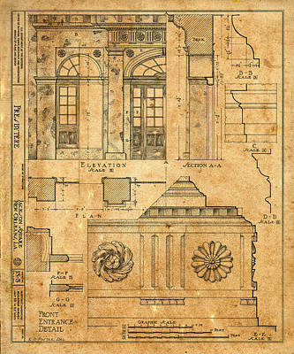 Photograph - Vintage Blueprints 14 by Andrew Fare
