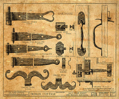 Photograph - Vintage Blueprints 5 by Andrew Fare