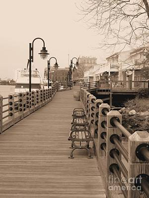 Photograph - Vintage River Walk In Sepia by Bob Sample