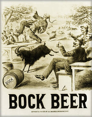 Bier Photograph - Vintage Bock Beer - 1879 by Bill Cannon