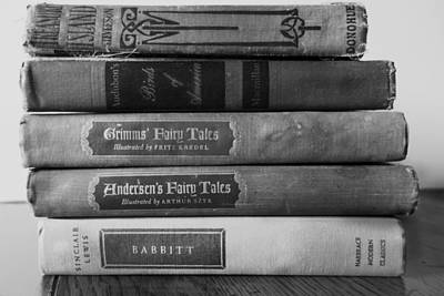Photograph - Vintage Book Stack  by Ann Powell
