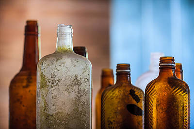 Flasks Photograph - Vintage Bottles by Adam Romanowicz