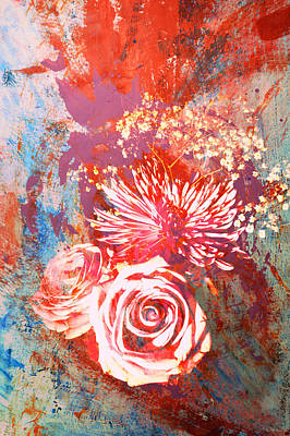 Photograph - Vintage Bouquet Art by John Fish