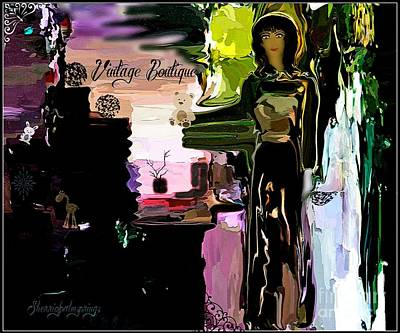 Designer Clothes Painting - Vintage Boutique   Abstract by Sherri's Of Palm Springs