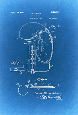 Authority Drawing - Vintage Boxing Glove Patent 1927 by Mountain Dreams