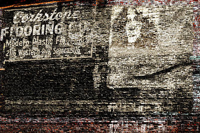 Photograph - Vintage Brick Wall - Advertising by Marie Jamieson