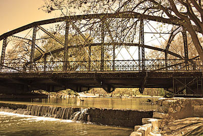 Photograph - Vintage Bridge Over Waterfall by Brooke Fuller