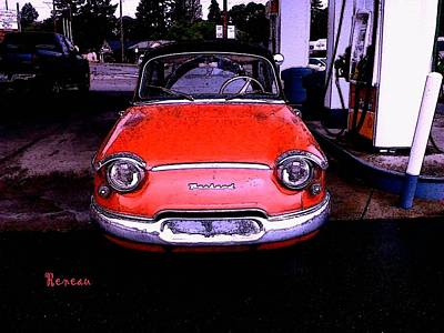 Photograph - Vintage French Panhard Auto 2 by Sadie Reneau