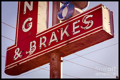 Photograph - Vintage Broken Neon Sign by Imagery by Charly