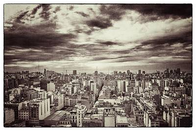 Photograph - Vintage Buenos Aires Panorama by For Ninety One Days
