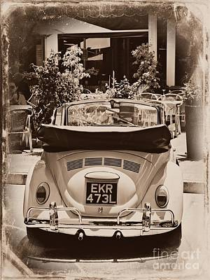 Beetle Car Interior Photograph - Vintage Bug by Clare Bevan