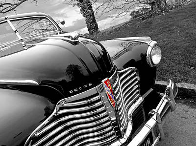 Chrome Bumper Photograph - Vintage Buick 8 by Gill Billington