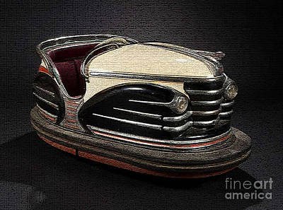 Mixed Media - Vintage Bumper Car by Marvin Blaine