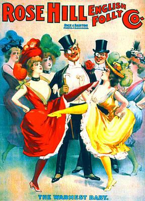 Playbill Photograph - Vintage Burlesque Playbill 1899 by Padre Art