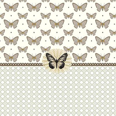 Vintage Butterfly Riches Art Print