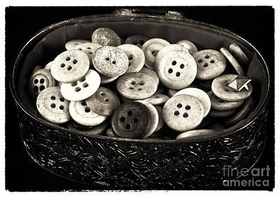 Photograph - Vintage Button Treasure by John Rizzuto