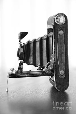 Photograph - Vintage Camera - Black And White by Carol Groenen