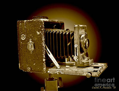 Vintage Camera In Sepia Tones Art Print