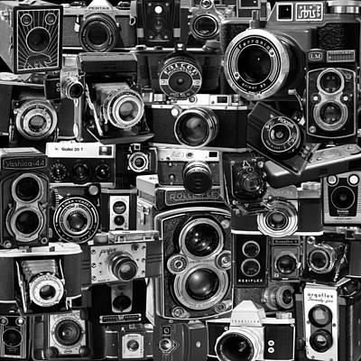 35mm Photograph - Vintage Camera Montage by Andrew Fare