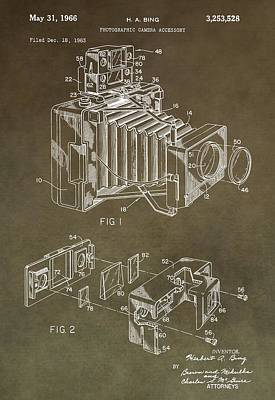 Nikon Digital Art - Vintage Camera Patent by Dan Sproul