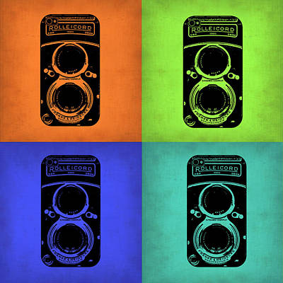 Camera Art Painting - Vintage Camera Pop Art 1 by Naxart Studio