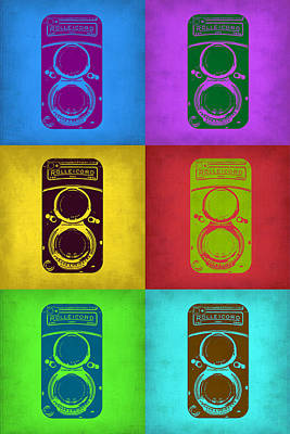 Vintage Camera Digital Art - Vintage Camera Pop Art 2 by Naxart Studio
