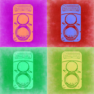 Film Camera Painting - Vintage Camera Pop Art 3 by Naxart Studio