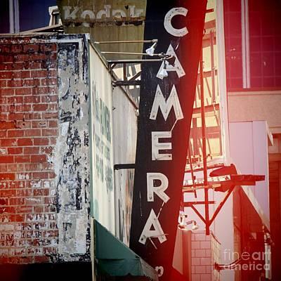 Vintage Camera Sign Art Print by Nina Prommer
