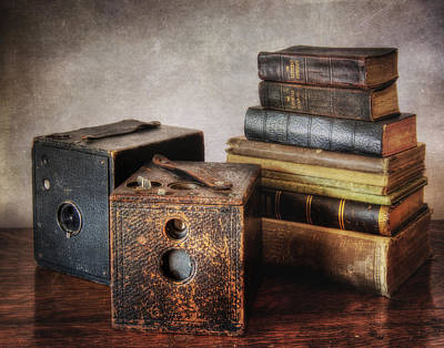 Photograph - Vintage Cameras And Books by David and Carol Kelly