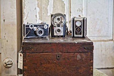 Arkansas Photograph - Vintage Cameras At Warehouse 54 by Toni Hopper
