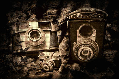 Wall Art - Photograph - Vintage Cameras by Shannon Story