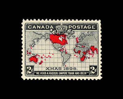 Photograph - Vintage Canada Stamp 1898 by Andrew Fare